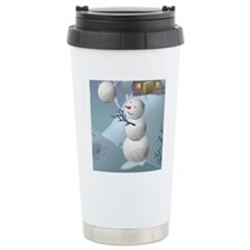 Volleyball Snowman Spor Travel Mug