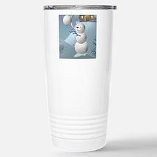 Volleyball Snowman Spor Travel Mug