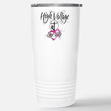 high voltage line wife  Travel Mug
