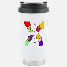 Autism Pieces Stainless Steel Travel Mug