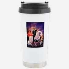 Obama on Unicorn Stainless Steel Travel Mug