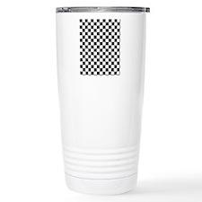 black checkered board Travel Mug