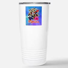 FABULOUS-FIFTIES-BLUE-s Stainless Steel Travel Mug