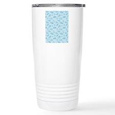 Blue seashells pattern Travel Mug