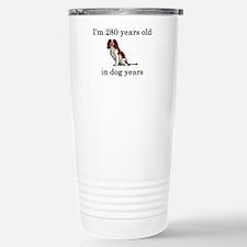 40 birthday dog years springer spaniel Stainless S
