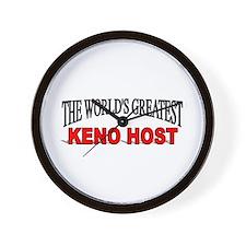 """""""The World's Greatest Keno Host"""" Wall Clock"""