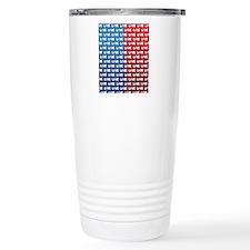 LOVE Obama Pattern Travel Coffee Mug