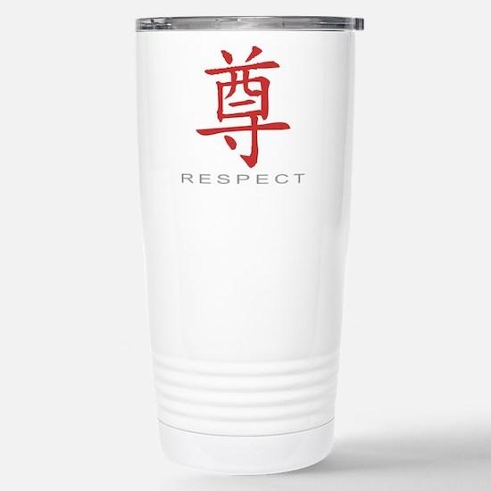 respectColored Stainless Steel Travel Mug