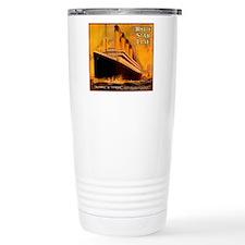 TGgoldWineLabel Travel Coffee Mug