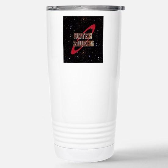 Roter Zwerg with stars Stainless Steel Travel Mug