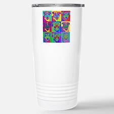 Op Art Pitbull Travel Mug