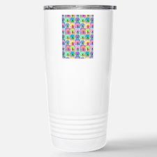 Op Art Bichon Stainless Steel Travel Mug