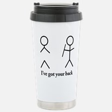 Stick Figure Humor Stainless Steel Travel Mug