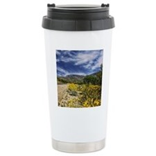 desert roadway flowers Travel Mug