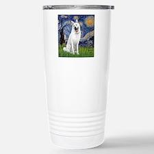 Starry-White German She Travel Mug