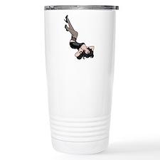 Pinup Line Drawing Travel Mug