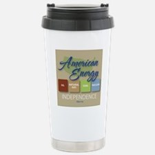 American Energy Indepen Stainless Steel Travel Mug