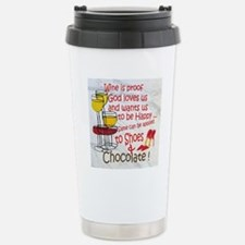 wine shoes and chocolat Stainless Steel Travel Mug