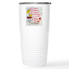 wine shoes and chocolat Travel Mug