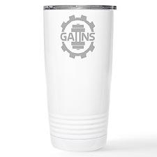 GAIINS Cog Logo Grey Travel Coffee Mug