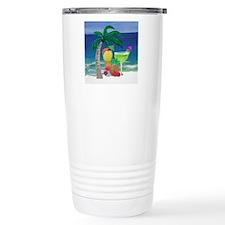 Tropical Drinks on the  Travel Mug