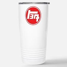 TEQ logo red large Stainless Steel Travel Mug