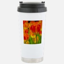 Orange tulip Stainless Steel Travel Mug