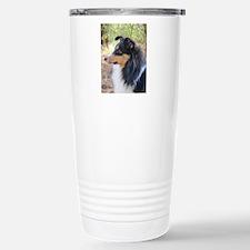 Tri-Color Sheltie Head Travel Mug