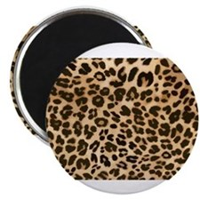 Leopard Gold/Black Print Magnets