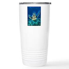 macro sea turtle Travel Mug