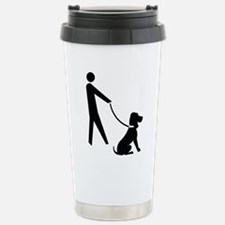 Dog Walker Trail Sign Travel Mug