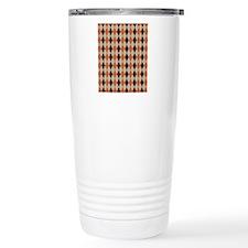 Orange Brown and Beige  Travel Mug
