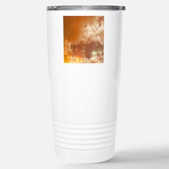 Cloudy Stainless Steel Travel Mug