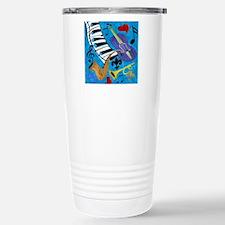 Jazz on Blue Stainless Steel Travel Mug