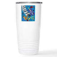 Jazz on Blue Travel Mug