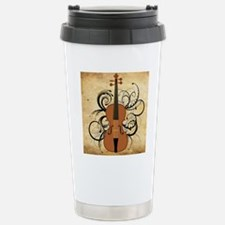Violin Swirls Stainless Steel Travel Mug