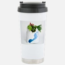Water footprint of vege Travel Mug