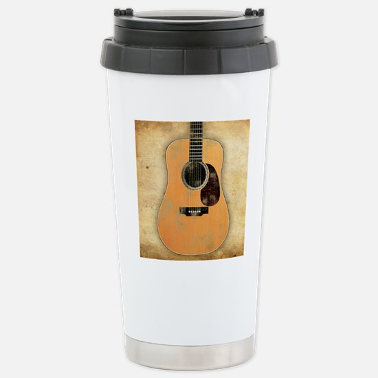 Acoustic Guitar worn (s Stainless Steel Travel Mug