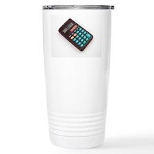 Solar-powered calculato Travel Mug