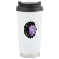 Rotavirus particle, art Travel Coffee Mug