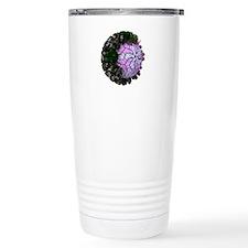 Rotavirus particle, art Travel Mug