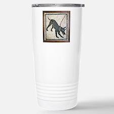Roman guard dog mosaic Stainless Steel Travel Mug