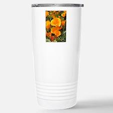 Poppies (Eschscholzia c Stainless Steel Travel Mug