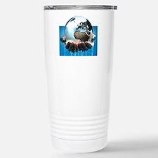 Polar ice caps melting, Stainless Steel Travel Mug