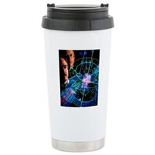 Physicists view a parti Travel Mug