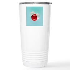 Molecular model of wate Travel Mug