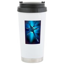 Loch Ness monster, artw Travel Mug