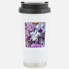 19th C Vintage Orchid P Stainless Steel Travel Mug