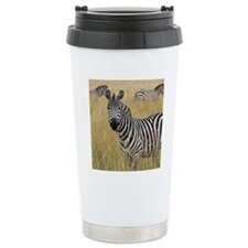 Zebra in tall grass Travel Mug