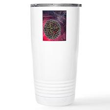 Dengue virus particle Thermos Mug
